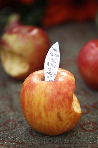 steve jobs apple bite