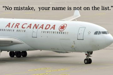 air canada customer compliant